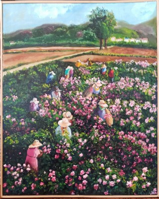 The Rose Gatherers